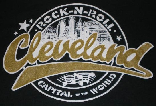 Cleveland Rock Capital of the World Black T-Shirt