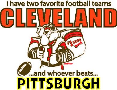 Cleveland - Pittsburgh White T-Shirt